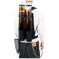 Wyndham House Dual Beverage Dispenser Backpack 3.7qt Clear Holders Padded Shoulder Straps