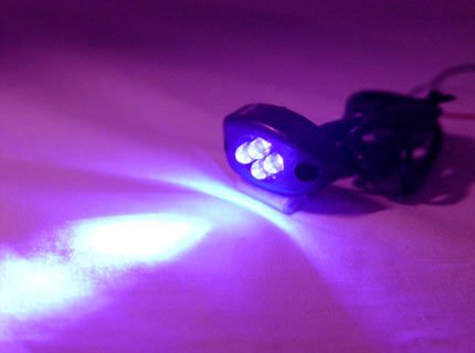 Uv / Purple 4Led Neon Motorcycle / Car / Boat / Home / Pod Light Bright 4 Led Accent Glow
