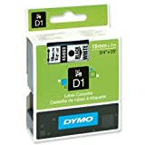 Brand New. Dymo D1 Tape for Electronic Labelmakers 19mmx7m Black on White Ref 45803 S0720830