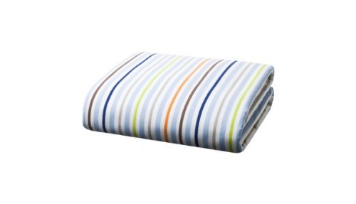 Tiddliwinks Come Ride With Me Striped Fitted Crib Sheet