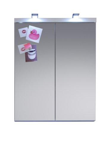 trendteam tredo u armario para bao con espejo color blanco