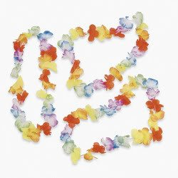 Bright Jumbo Flower Leis (1 dozen) - Bulk [Toy] - 1