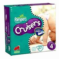 Pampers Cruisers Diapers With Dry Max Size 4 22-37 Lbs 27-Count - 1
