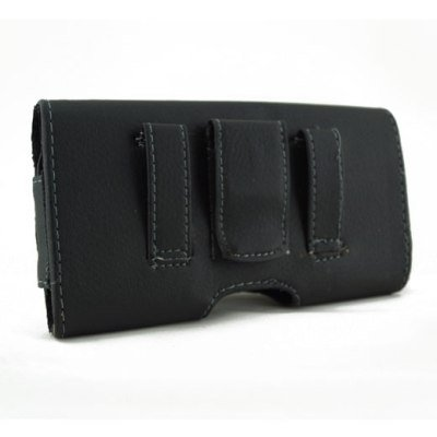 Black Horizontal Stylish Leather Cover Belt Clip Side Case Pouch For ATT Nokia Lumia 520-521 from BCC&NM