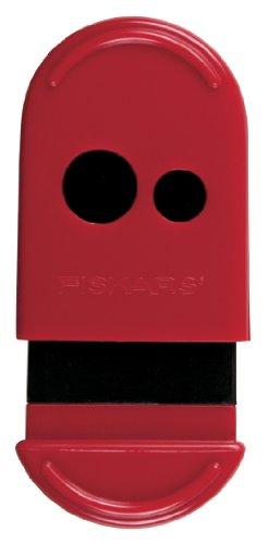 Fiskars Mess-Less Pencil and Crayon Sharpener, Color Received May Vary (12-95900J)