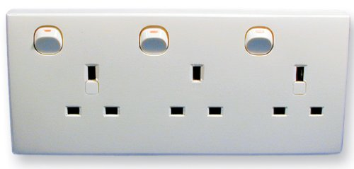 Double To Triple Wall Socket Converter