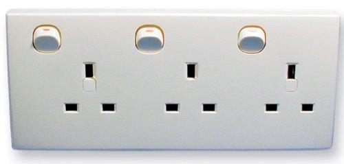 Double To Triple Wall Socket Converter