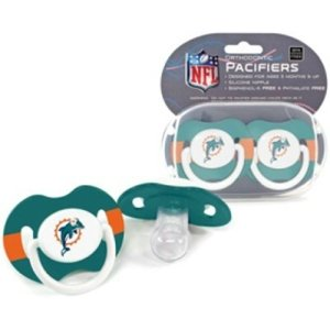Miami Dolphins NFL Baby Pacifiers (2 Pack)