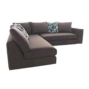 Hoxton fabric corner sofa small x small corner unit for Small sectional sofa amazon