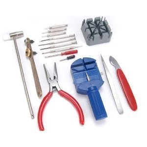 TribalSensation® 16 pieces watch repair tool kit set - Pin & Back remover opener