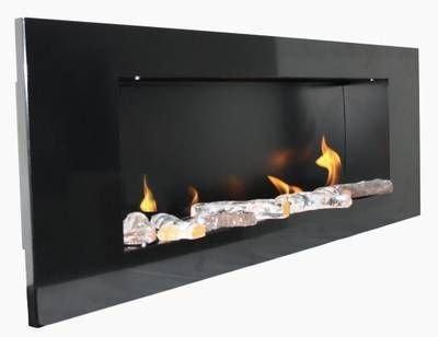Metallo-Camino Nero / BBT-10001100 / Per l'uso con il Fuoco-Gel o Bio-Etanolo / Nessuna deduzione richiesta / Infine: Reale Fuoco / NO cenere, polvere o fumo!