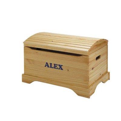 Personalized Captain'S Chest Toy Box Finish: Honey Oak front-548616