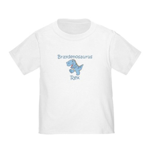 Personalized Brayden Braydenosaurus Rex Dinosaur Baby Infant Toddler Kids Shirt - Customize With Any Boy Or Girls Name, Christmas Present Custom Gift Collection front-934773