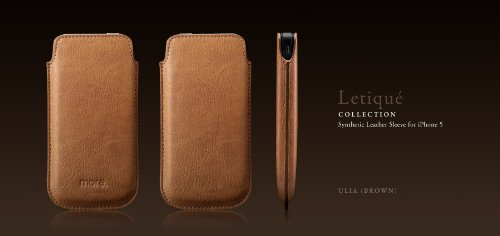 Best Price Letique Collection for iPhone 5 (Brown)