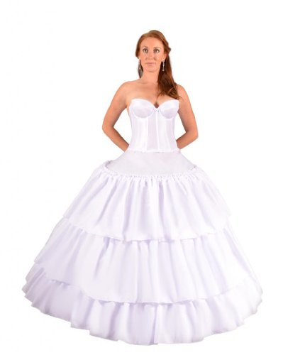 Undercover Bridal Women's Six Ring Ruffled Hoopskirt Slip