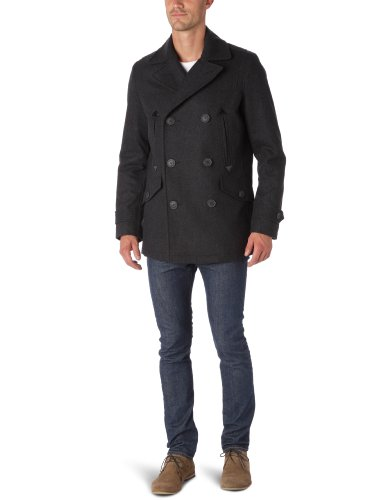 Dockers Classic Wool Melton Men's Peacoat Charcoal X-Large