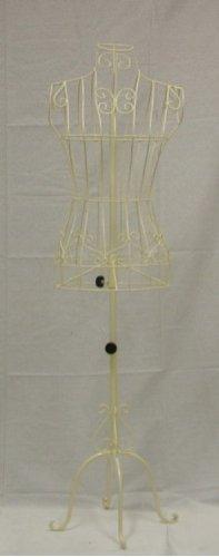 Brand New Female Cream Steel Wire Mannequin Dress Form 33