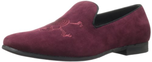 Steve Madden Men's Churchil Slip-On,Burg Velvet,8 M US