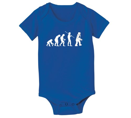 Evolution Robot - Baby One Piece - Royal Blue - 6 Months front-538282