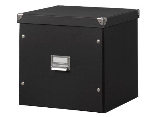 Zeller-17635-Aufbewahrungsbox-Pappe-335-x-33-x-32-schwarz