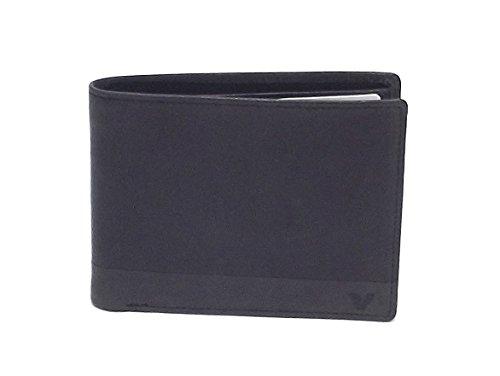 Roncato portafoglio uomo, Bravo 411952-01, portafoglio orizzontale multiscomparto in pelle, colore nero