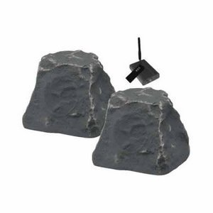Tic Wrs010 Outdoor Wireless Rock Speakers. Tic Wireless Rock Speakers Pair Slate Nic Spkr. Wireless - 50W (Rms) / 100W (Pmpo) - Slate