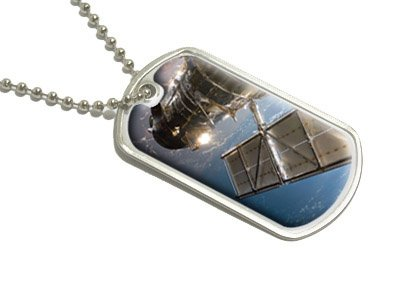 Hubble Telescope - Astronomy Space - Military Dog Tag Luggage Keychain
