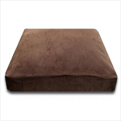 Rectangle Chocolate Suede Dog Bed
