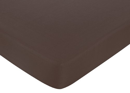 Pink And Brown Hotel Fitted Crib Sheet For Baby And Toddler Bedding Sets By Sweet Jojo Designs - Solid Brown front-227274