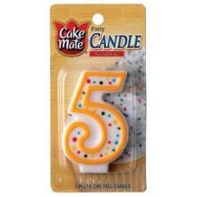 Numeral Candle No 5 1 Ct (Pack of 6) - 1