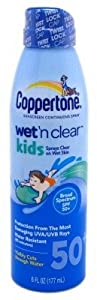 Coppertone Continuous Spf#50 Spray Kids Wet N Clear 6oz