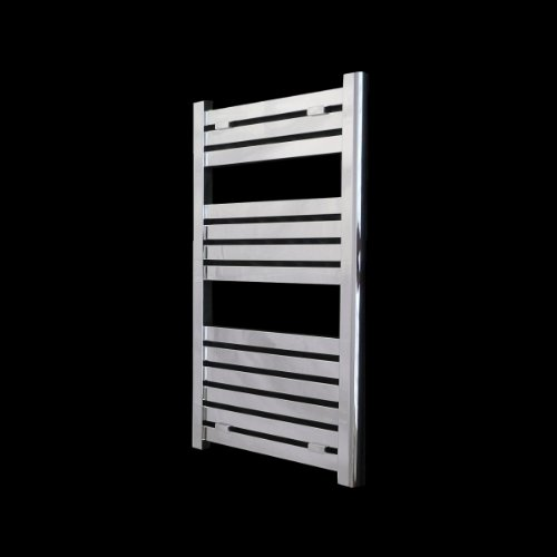 Milano Flat Chrome Heated Bathroom Towel Rail Radiator 1000 x 450 mm