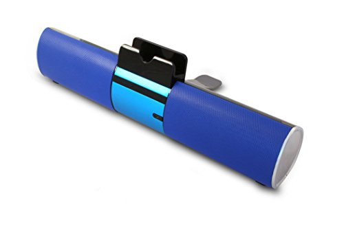 Digital Gadgets Dgnovspb-Bl Bluetooth Speaker Bar With Dock For Smartphone Or Tablet, Blue