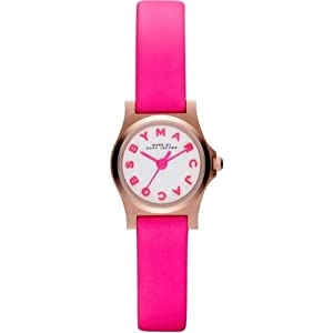 Marc By Marc Jacobs Henry Dinky Pink Leather Ladies Watch MBM1237