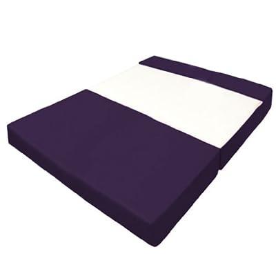 Ausklappbares Faltbares Schlafsofa Wasserfest Z Bett Sofa in Lila. Weich, Komfortabel & Leicht mit abnehmbarem Cover