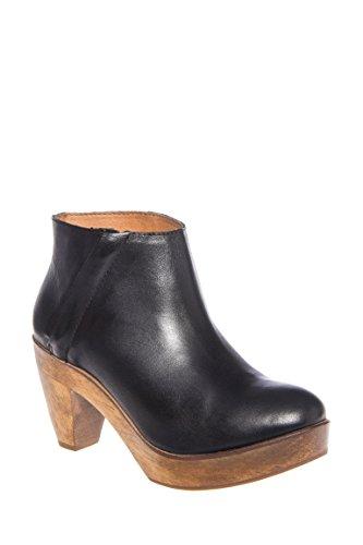 Atena Casual Mid Heel Platform Bootie
