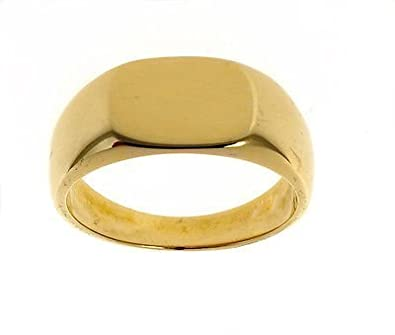 'Men''s 9ct Gold Plain Signet Ring Made In Jewellery Quarter B''ham RRP £854'