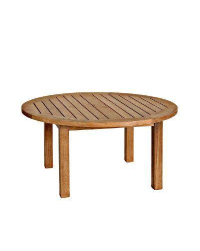 Three Birds Casual Canterbury 36-Inch Round Coffee Table, Teak image