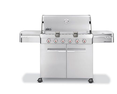 Weber 1750001 Summit S-620 Propane Gas Grill, Stainless Steel