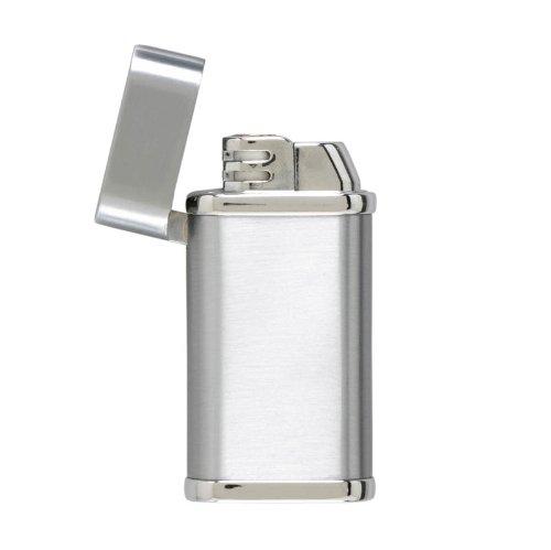 Flip Top Brush Chrome Lighter with Wooden Gift Box