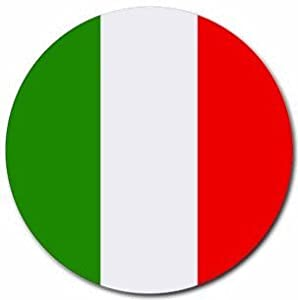 Italy Flag Round Mouse Pad