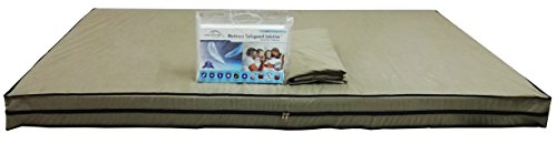 Dream Care Dust & Water Proof Twin Size(36''X72''X6'') Beige Zipper Mattress Cover - Set Of 2pcs