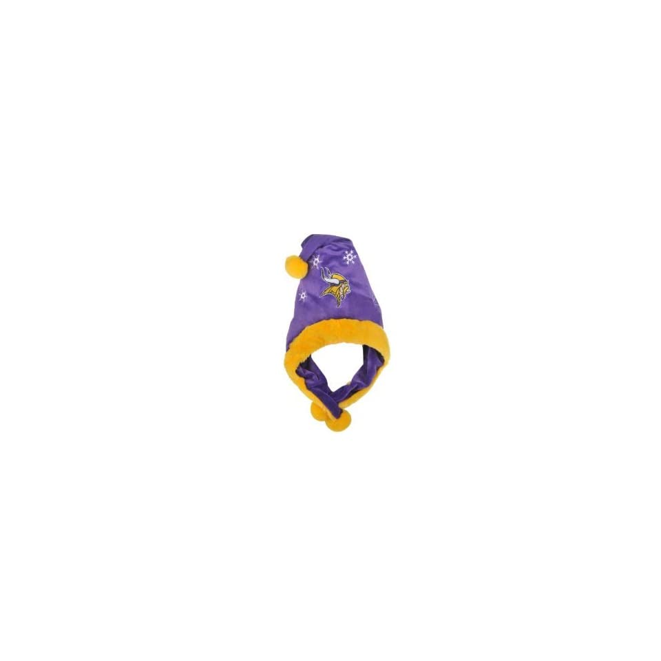 Minnesota Vikings NFL Official Team logo Stadium Dangle Santa Hat *NEW ITEM*