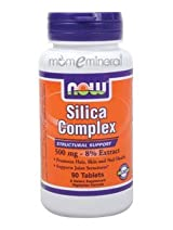 Silica Complex 500 mg-8% Extract 90 Tablets by NOW Foods