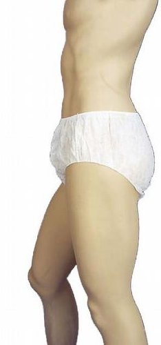Premier Unisex Disposable Briefs, White, Large, Pack of 100