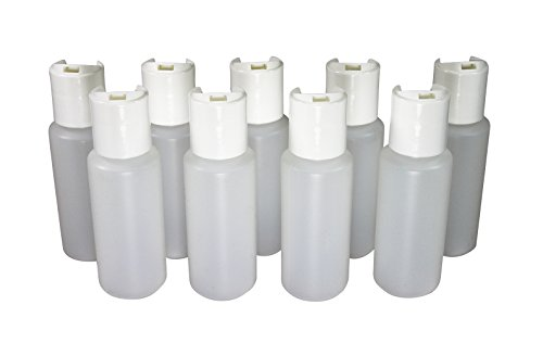 2 Oz Empty Plastic Squeeze Bottles with Disc Top Flip Cap Set of 9 Travel Size by Pinnacle Mercantile (Small Plastic Bottles With Caps compare prices)