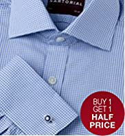 Luxury Sartorial Pure Cotton Gingham Check Shirt