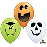 "Halloween Face Assortment 5"" Latex Balloon 12"