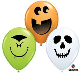 "Amazon.com: Halloween Face Assortment 5"" Latex Balloon 12"