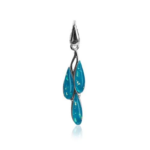 Sterling Silver Imitation Opal Dreams Pendant